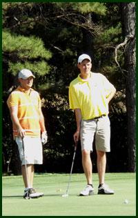 photo of club members on #9 green